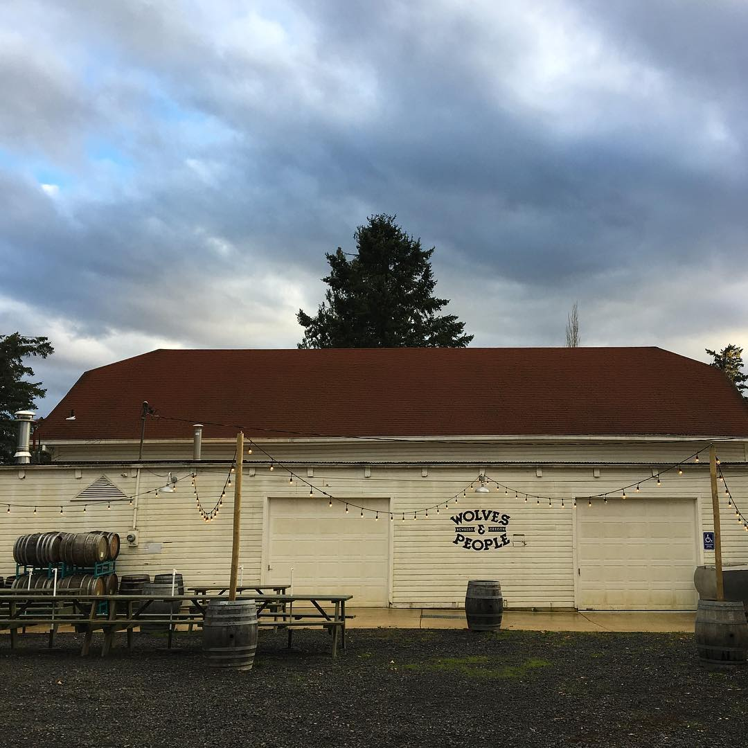 I've been a fan of @wolvesandpeople's beers since they opened earlier this year, but now that I've visited this magical brewery, I'm their new #1. I highly recommend a trip to their brewery tasting room, which is in this barn on a hazelnut farm in Newberg, Oregon. Get out there and enjoy some sublime wild ales. #oregon #willamettevalley #craftbeer #farmhouseale #saison #wolvesandpeople #brewery #beer
