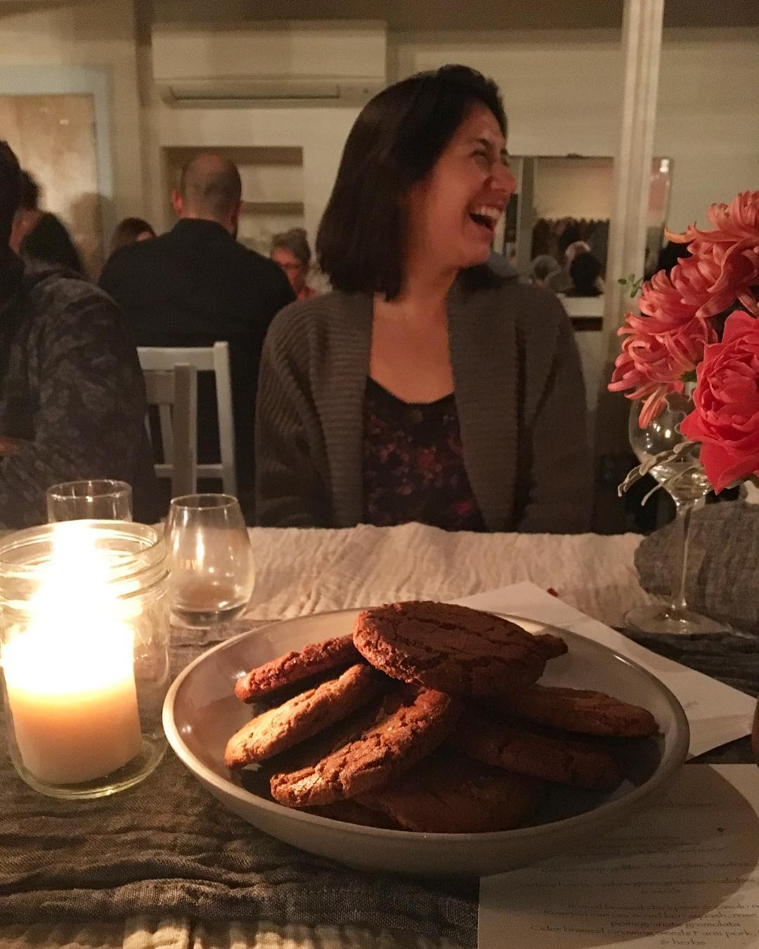 What a magical dinner @tournantpdx last night! Such a pleasure to be at the table with Cortney of @wyldbread, a new bakery in PDX. Her bread! These cookies! I'm a super fan.