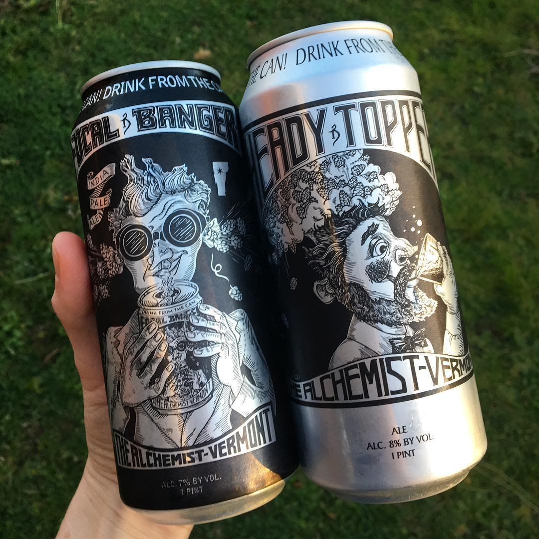 I don't know what I've done to deserve friends who HAND DELIVER @alchemistbeer from Vermont, but I'll take it! Going to do a hazy side-by-side taste off.