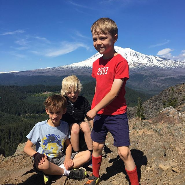 Hiked to a four-volcano view with these heartbreakers. Didn't get eaten by a cougar on my trail run. And now I get to drink as much BEER as I want. Today was a good day.