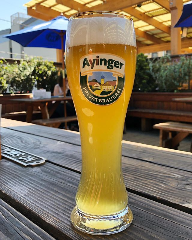 This is my kind of hazy: a classic German weisse bier. It's like a slice of banana cream pie that's beautifully carbonated and refreshing on a hot spring day. That's a thing, right?