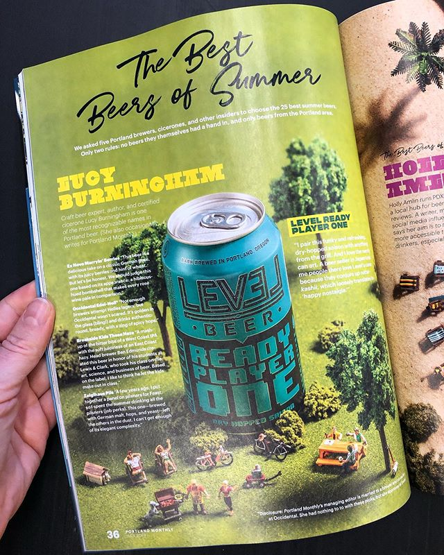 Delighted to be part of @pomomagazine's July beer issue! I wrote about a few of my favorite Portland beers, and I even learned a new Japanese word along the way. What do ya think? What are your beers of summer? 😎🍺